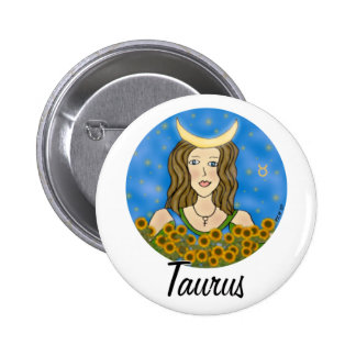 Taurus Round Pinback Button