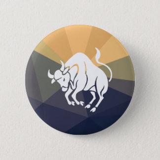 Taurus round button. Bull button