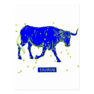 Taurus Star Sign Postcard