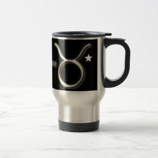 Taurus symbol travel mug