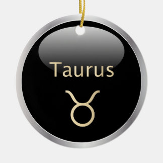 Taurus the bull astrology star sign ornament
