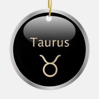 Taurus the bull astrology star sign ornament