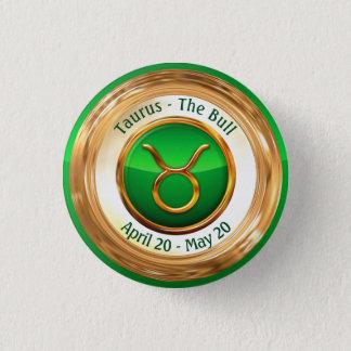 Taurus - The Bull Zodiac Sign 3 Cm Round Badge