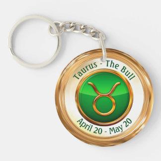 Taurus - The Bull Zodiac Sign Key Ring