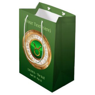 Taurus - The Bull Zodiac Sign Medium Gift Bag
