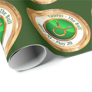 Taurus - The Bull Zodiac Sign Wrapping Paper