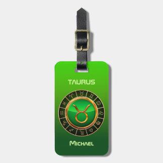 Taurus - The Bull Zodiac Symbol Luggage Tag