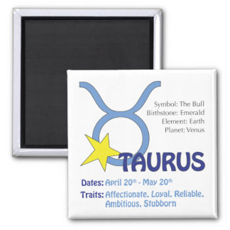 Taurus Traits Magnet