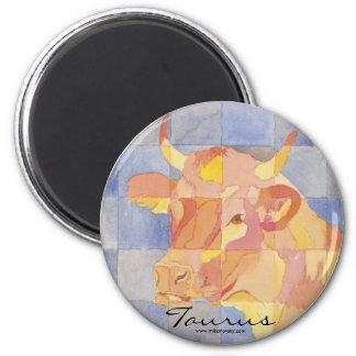 Taurus Zodiac 6 Cm Round Magnet