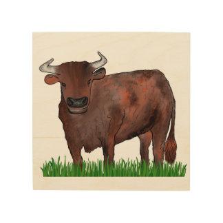 Taurus Zodiac Art Wood Panel Wood Canvas