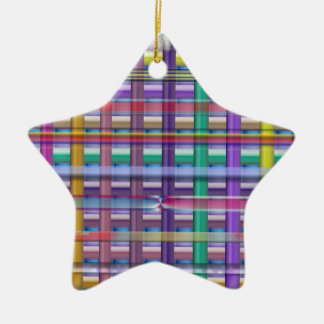TAURUS Zodiac Astrology Jyotish Symbols Double-Sided Star Ceramic Christmas Ornament