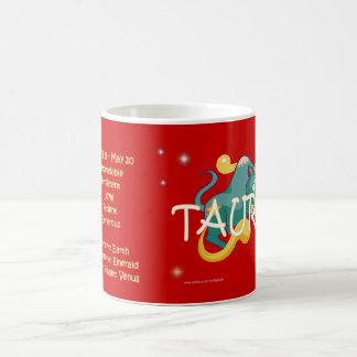 Taurus zodiac character coffee mug