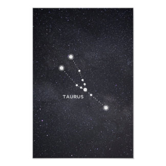 Taurus Zodiac Constellation Poster