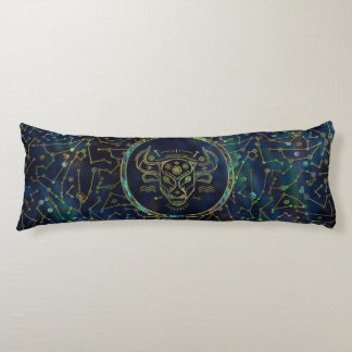 Taurus Zodiac Gold Abalone on Constellation Body Cushion