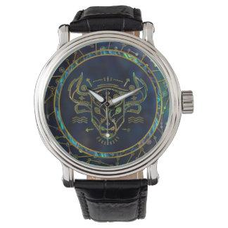 Taurus Zodiac Gold Abalone on Constellation Watch