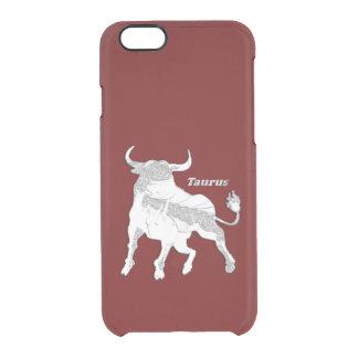 Taurus Zodiac Maroon Clear iPhone 6/6S Case