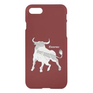 Taurus Zodiac Maroon iPhone 7 Case