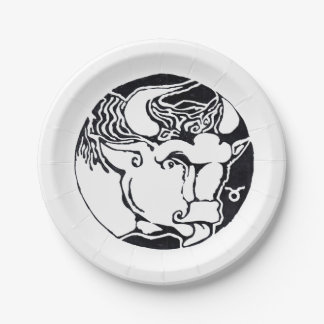 Taurus - Zodiac  Party plate 7 Inch Paper Plate