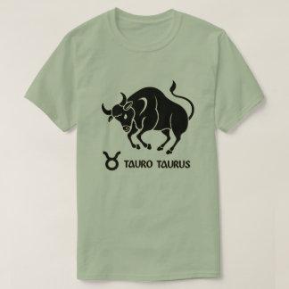 Taurus Zodiac sign Black Gold Modern T-Shirts