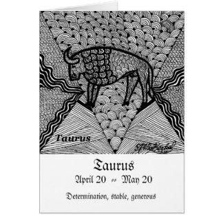 Taurus  (Zodiac sign) Card