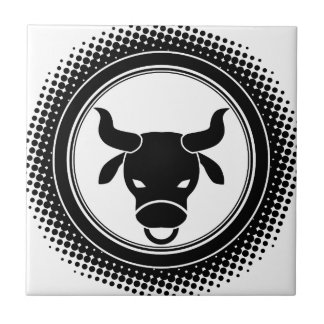 Taurus Zodiac Sign. Ceramic Tile