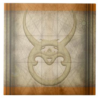 Taurus Zodiac Sign Ceramic Tile
