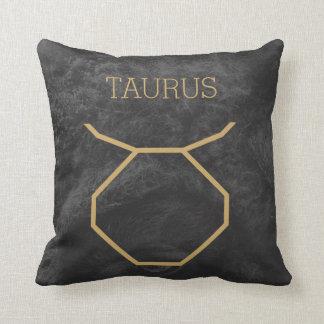 Taurus Zodiac Sign | Custom Background + Text Cushion