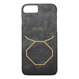 Taurus Zodiac Sign | Custom Background + Text iPhone 8/7 Case