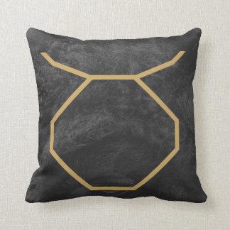 Taurus Zodiac Sign | Custom Background Throw Pillow