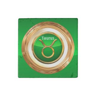 Taurus Zodiac Sign Stone Magnet