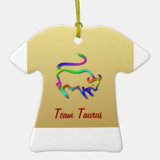 Taurus Zodiac Star Sign Color Line Christmas Tree Ornaments