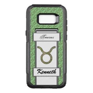 Taurus Zodiac Symbol Element by Kenneth Yoncich OtterBox Commuter Samsung Galaxy S8+ Case