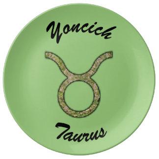 Taurus Zodiac Symbol Element by Kenneth Yoncich Plate