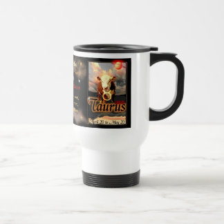 Taurus Zodiac white travel Travel Mug