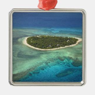 Tavarua Island and coral reef, Mamanuca Islands Metal Ornament