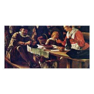 Tavern Garden Detail By Steen Jan (Best Quality) Customised Photo Card