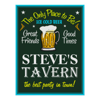 Tavern Sign (Personalized) Poster