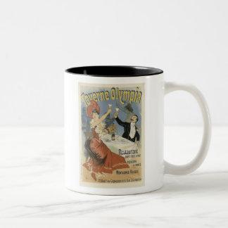 Taverne Olympia, Jules Cheret Two-Tone Mug