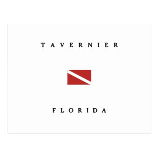 Tavernier Florida Scuba Dive Flag Postcard