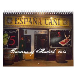 Taverns of Madrid  Calendar 2015