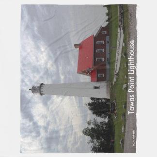 Tawas Point Lighthouse Fleece Blanket