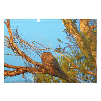TAWNY FROGMOUTH ART QUEENSLAND AUSTRALIA PLACEMAT