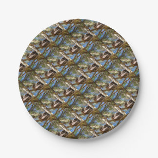 TAWNY FROGMOUTH RURAL QUEENSLAND AUSTRALIA PAPER PLATE