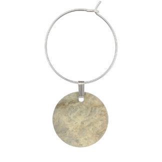 Tawny Gold Streaked marble stone finish Wine Charm