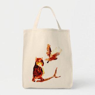 Tawny Owl Art Tote Bag