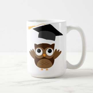 Tawny Owl Throwing Its Graduation Cap Mug