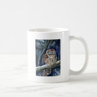 Tawny Owl watercolor painting Mug
