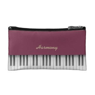 Tawny port piano makeup bag