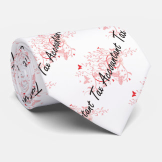 Tax Accountant Artistic Job Design with Butterflie Tie