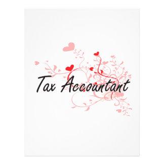Tax Accountant Artistic Job Design with Hearts 21.5 Cm X 28 Cm Flyer
